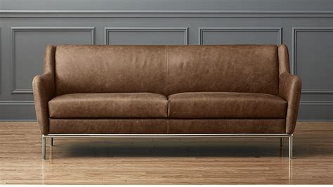 Leather Sofa Photos by Alfred Distressed Brown Leather Sofa Cb2