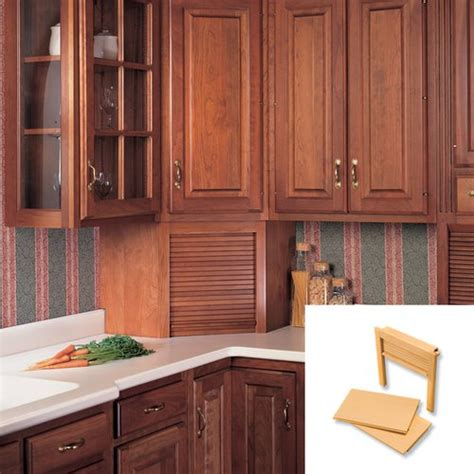 Tambour Doors For Kitchen Cabinets Omega National Products 24 Quot Corner Appliance Garage Oak Ag 100cvr Cabinetparts