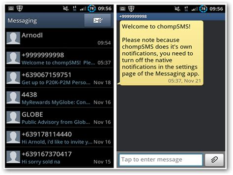 android texting apps chat style sms for android