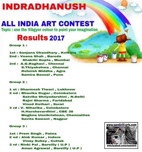 contest results indradhanush all india contest results 2017