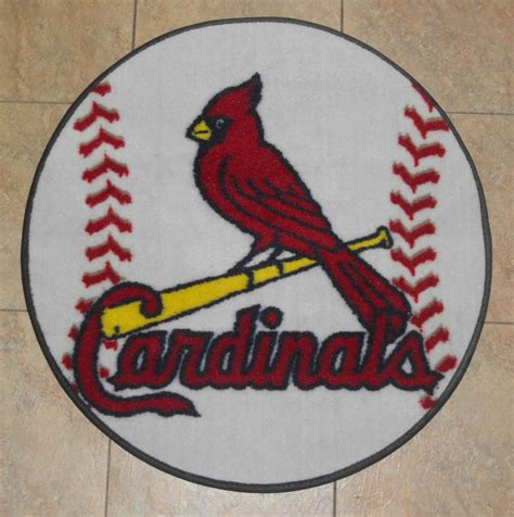 st louis cardinals home decor saint st louis cardinals mlb baseball 26 inch round floor