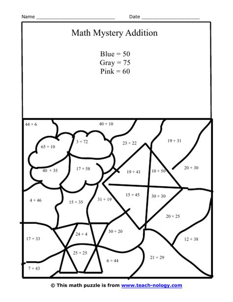 printable hidden picture math free coloring pages of math hidden pictures