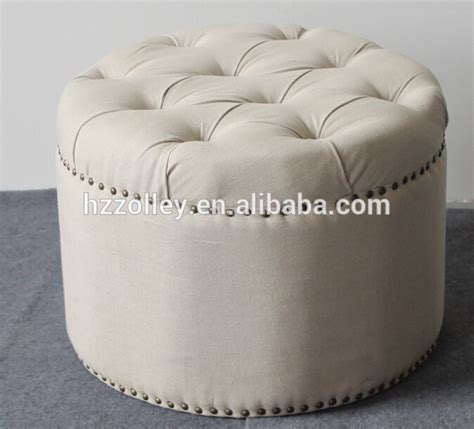 fancy ottomans for promotion cheap price wholesale round storage fancy