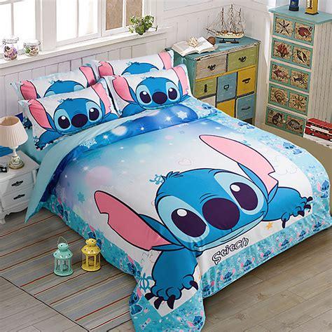 Sprei Lilo Stich stitch printed bedding set bedspread single
