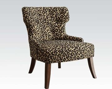 Leopard Accent Chair Leopard Fabric Accent Chair By Acme Furniture Ac59188