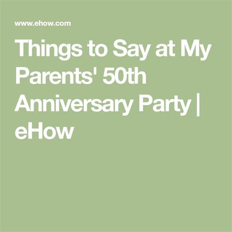 Things To Say In An Anniversary Card To Parents