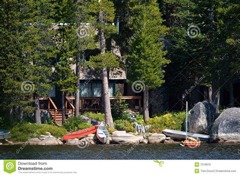 Wrights Lake Cabin Rental by Log Cabin By Lake Royalty Free Stock Images Image 7218919