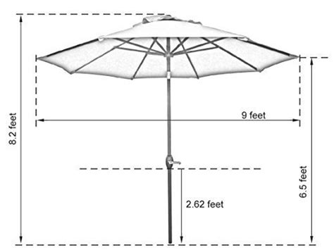 Patio Measurements by The Best Patio Umbrellas For 2017 Market Umbrella