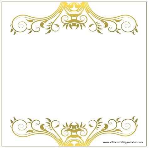 Wedding Border Gold by Casual Wedding All Free Wedding Invitations