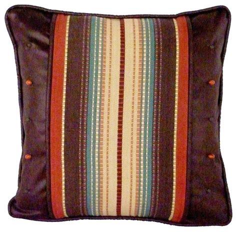 Southwestern Decorative Pillows by Santa Fe Stripe And Safari Chocolate Decorative Pillow