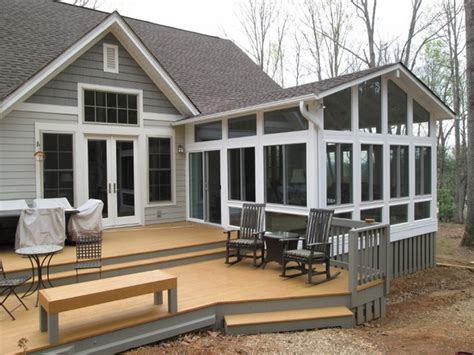 Add Gable To Roof Gable Roof Sunroom Addition Traditional Sunroom
