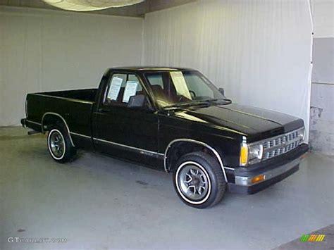 1992 midnight black chevrolet s10 regular cab 27625882