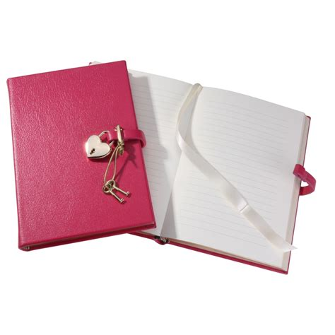 Dairy Pink lock diary brights leather graphic image