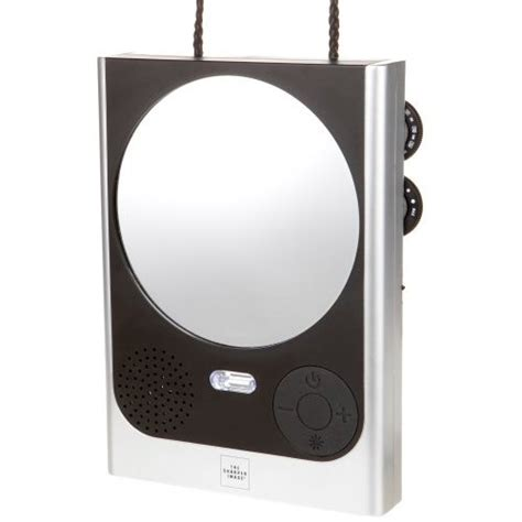 bathroom radio mirror amazon com sharper image fog free power zoom shower