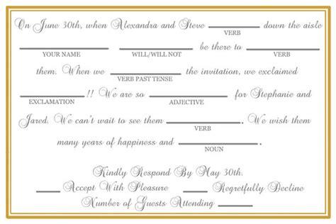 mad libs rsvp wedding items similar to custom printable wedding mad lib rsvp