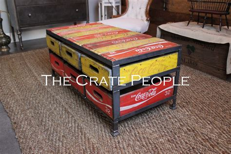 coca cola bench for sale 6 crate coca cola coffee table the crate people