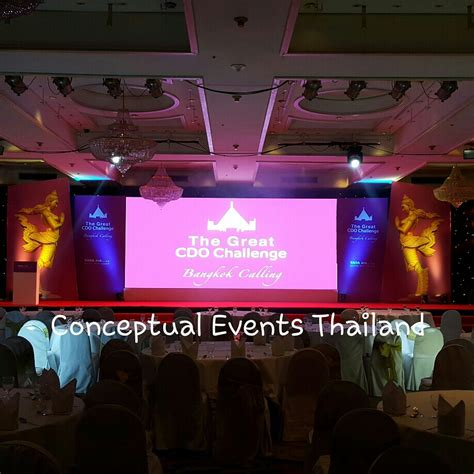 backdrop design for conference set up for tata aia india conference event in bangkok