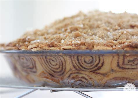 cinnamon roll pie crust    store bought pie