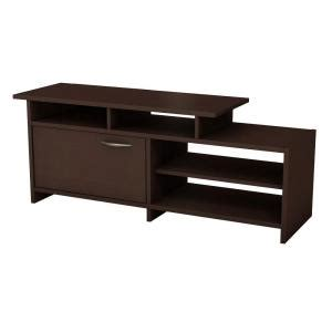 south shore freeport tv stand in chocolate 3159661 the