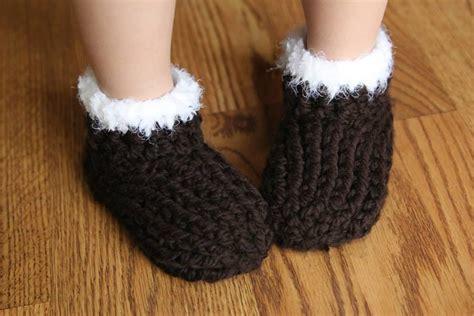 crochet slipper patterns for toddlers chunky slippers crochet pattern by crochet by