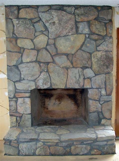 rock fireplace