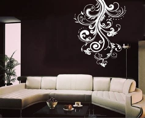 living room decals white flower vine living room wall sticker decal
