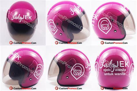 Helm Custom Promosi Ok Jek portofolio helmpromosi
