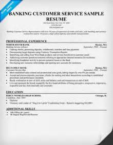 bank customer service resume sle student resume template