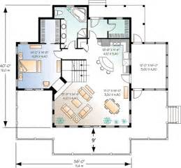 Vacation Cabin Floor Plans by Architectural Designs