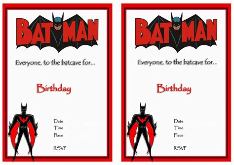 printable birthday invitations batman 9 awesome batman birthday invitations kitty baby love