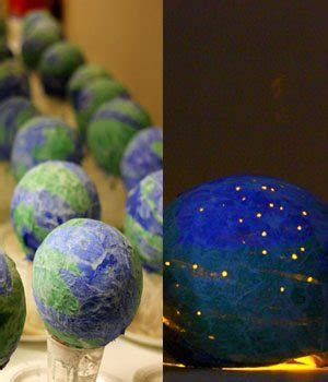 How To Make A Paper Mache Globe - cool earth day craft paper mache globes