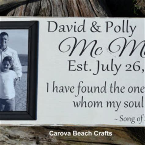 Wedding Anniversary Song By Name by Wedding Sign Decor Personalized Picture From Signs Of