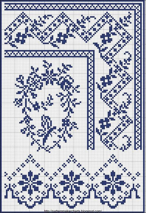 embroidery pattern maker free cross stitch borders no color chart just use pattern
