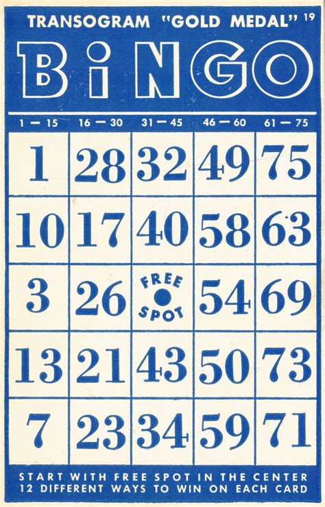 Template Tku Card by Collage Vintage Bingo Cards And 10 Cent Tickets