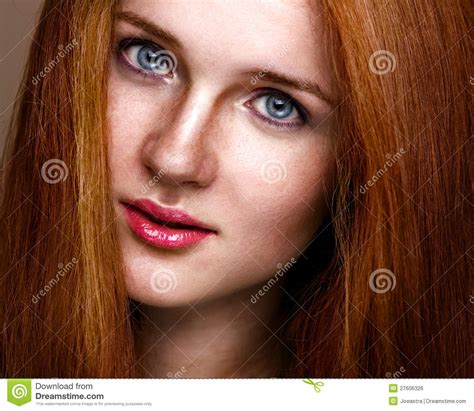 what kind of makeup does ginger z from good morning america wear clean beauty portrait of a young ginger girl stock photo