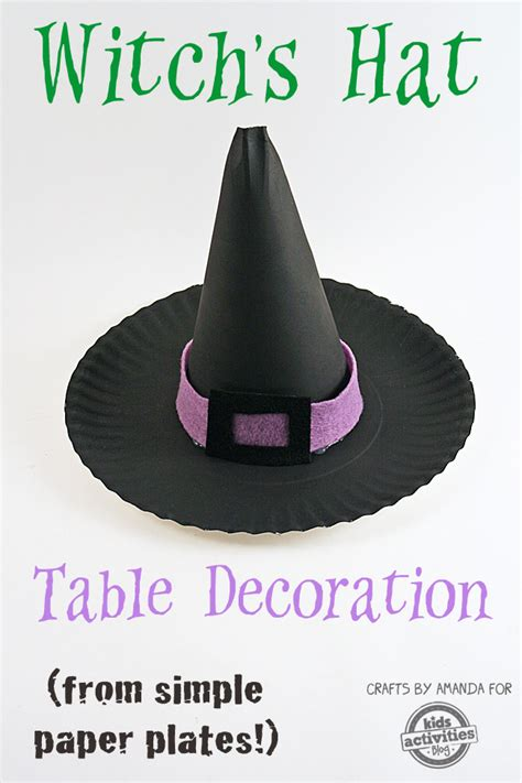 paper witch hat template paper plate witch s hat