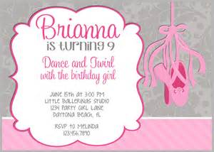 templates for ballerina invitations ballet birthday invitation template pictures to pin on