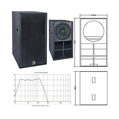 Mohawk Speaker 10mp 6 2 Black most popular horn loaded 21 inch subbass bass bin