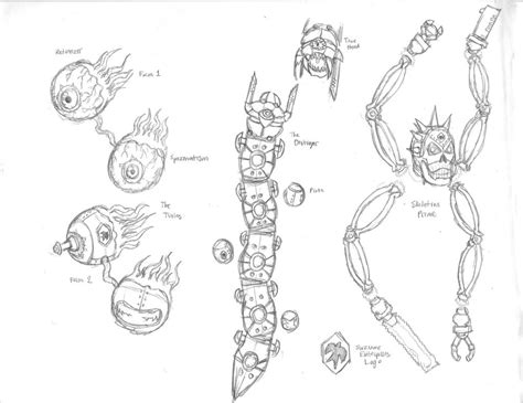 coloring page of skeletron terraria coloring pages