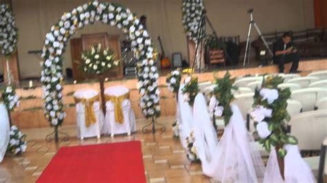 como decorar la iglesia para una boda cristiana alquifiestas y florister 237 a el mana decoraci 243 n artificial