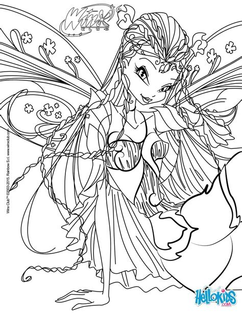 coloring pages for winx club flora transformation bloomix coloring pages hellokids