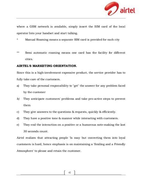 Airtel Credit Transfer Format Summer Internship Report On Marketing Strategies Of Airtel