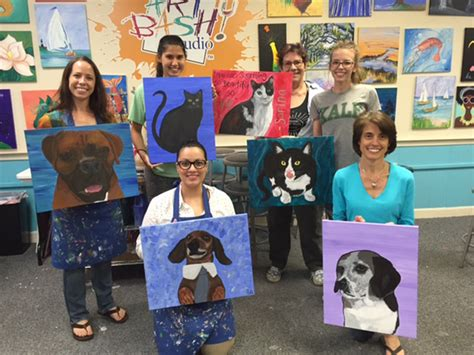 paint with a twist pooler fundraising and community events one animal rescue