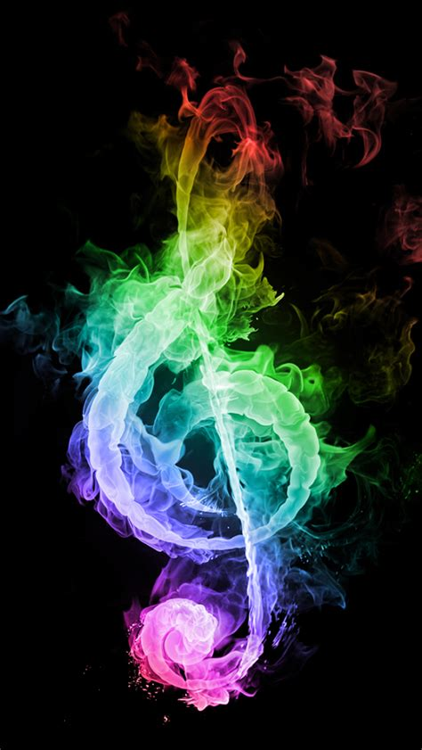 wallpaper colorful music colorful musical note of smoke wallpaper free iphone
