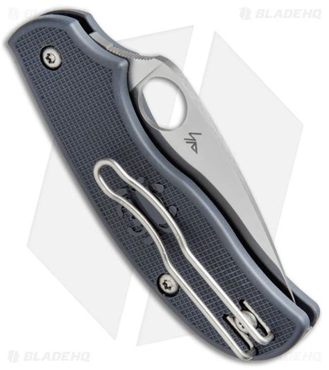 c127pgy spyderco lightweight knife gray frn 2 56 quot k390