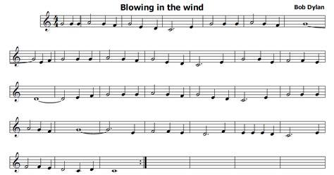 testo blowin in the wind musica e spartiti gratis per flauto dolce blowing in the wind