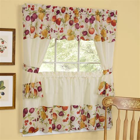 kitchen curtains swags and valances window treatments