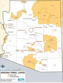 arizona indian tribes map arizona tribal lands maps air quality analysis pacific