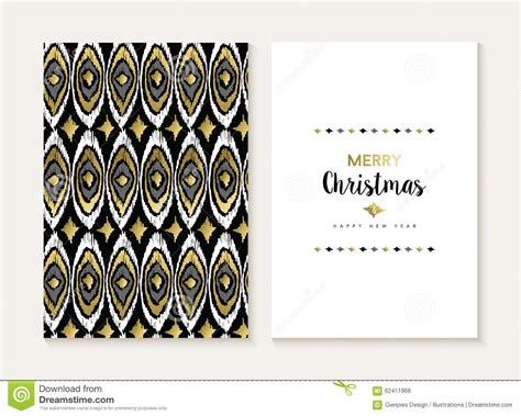 gold pattern card stock merry christmas retro tribal gold pattern card set stock