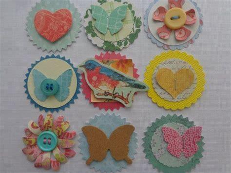 Handmade Embellishments - 9 handmade embellishments
